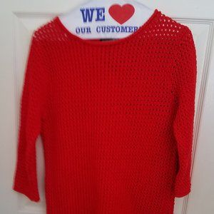 Hand Knit Ralph Lauren open knit sweater